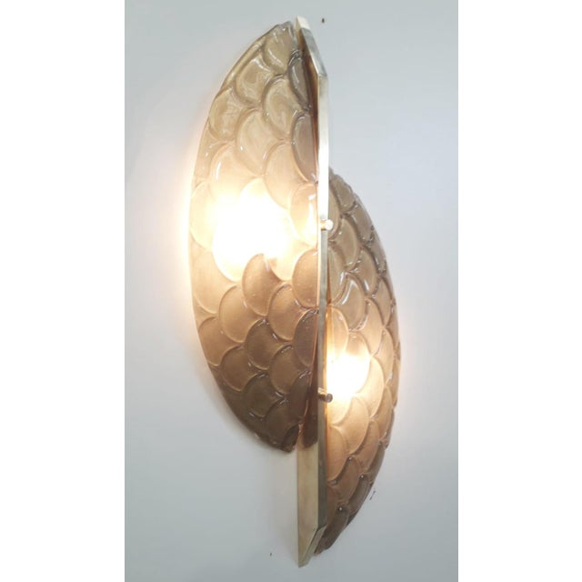 2010s Pair of Luna Oro Sconces / Flush Mounts by Fabio Ltd For Sale - Image 5 of 7