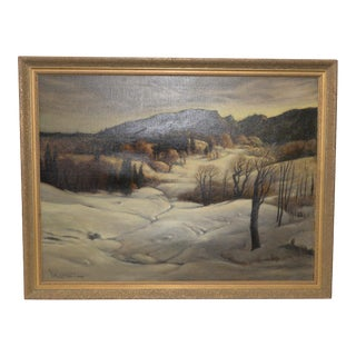 Paul Laurtiz (Norway / California, 1889-1975) Winter Landscape C.1950s For Sale