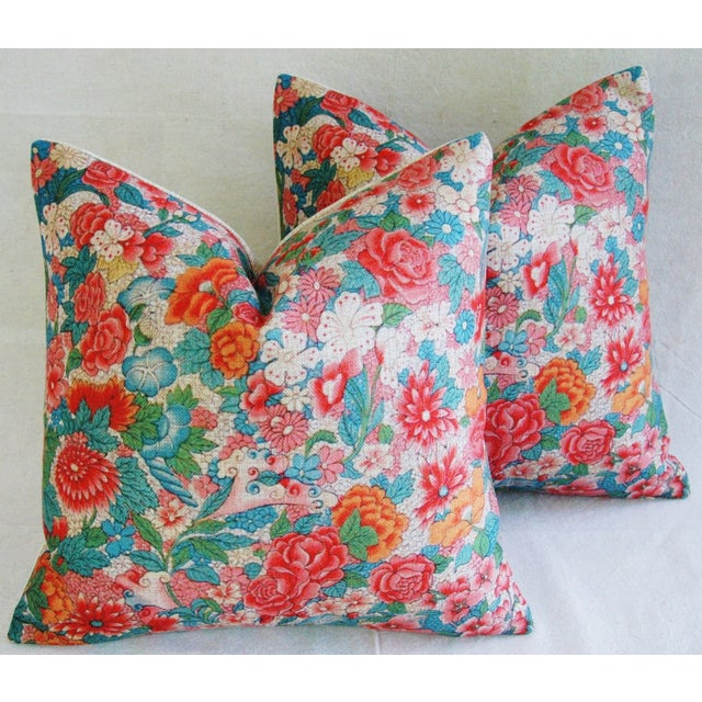 Sale! 4 Summer Floral Linen Pillow Covers - Set 4 - Image 2 of 9