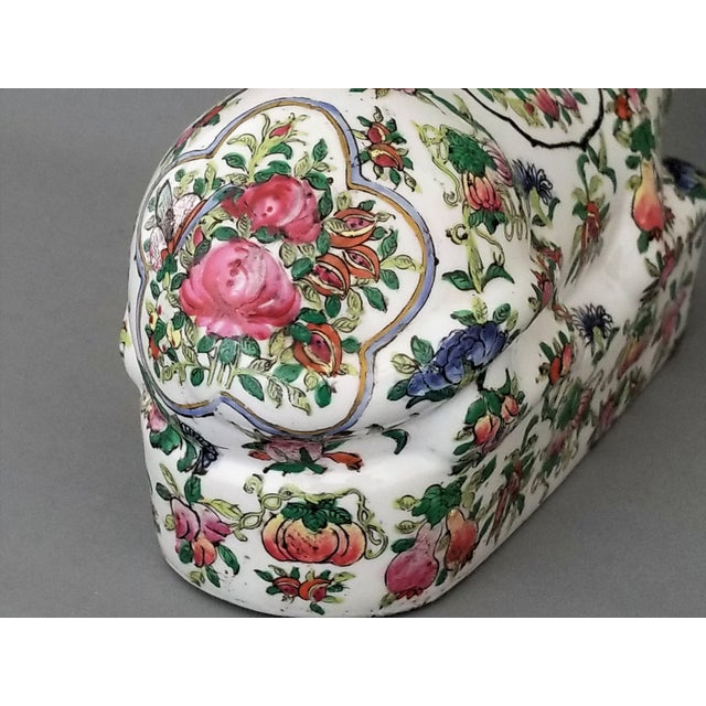 Chinese Ceramic Porcelain Cat Table Sculpture Pillow Sculpture For Sale - Image 9 of 12