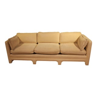 1970s Vintage Interior Crafts Fully-Upholstered Three-Seat Sofa For Sale