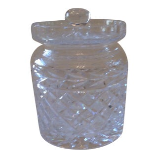 Late 20th Century Waterford Crystal Lismore Biscuit Barrel For Sale