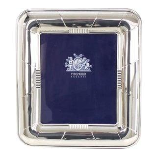 Vintage Medium Large Sterling Silver Picture Frame For Sale