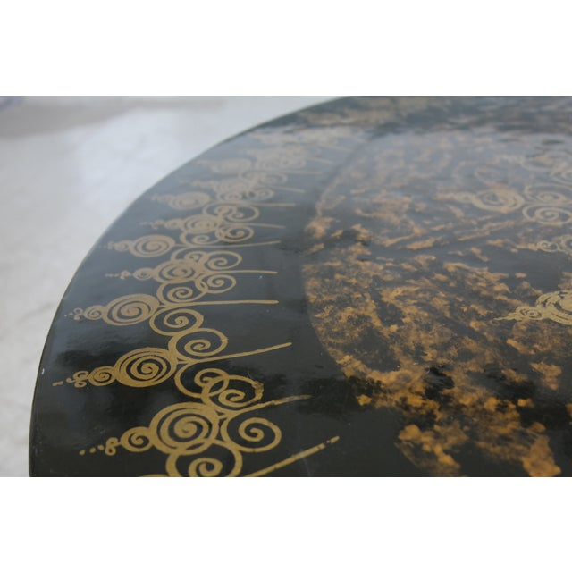 Poul Cadovius 1960's Dining Table in Aluminum Decorated by Susanne Fjeldsøe For Sale - Image 5 of 8