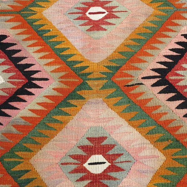 "Vintage Turkish Kilim Greer Rug - 5'2"" x 9'1"" - Image 2 of 2"