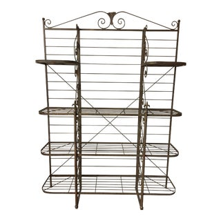 Old French Iron Baker's Rack For Sale