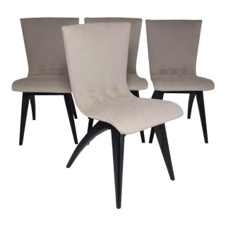 Mid-Century Scandinavian Dining Chairs- Set of 4 For Sale
