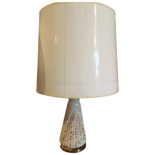 Vintage Cream & Gold Lamp - Image 1 of 6