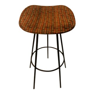 Contemporary Backless Stool With Retro Pattern For Sale