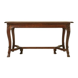 Circa 1930s French Dining Table With Pull-Out Leaves For Sale