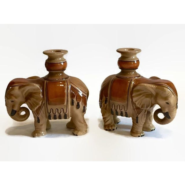 Fitz & Floyd Elephant Candle Holders - A Pair - Image 2 of 10