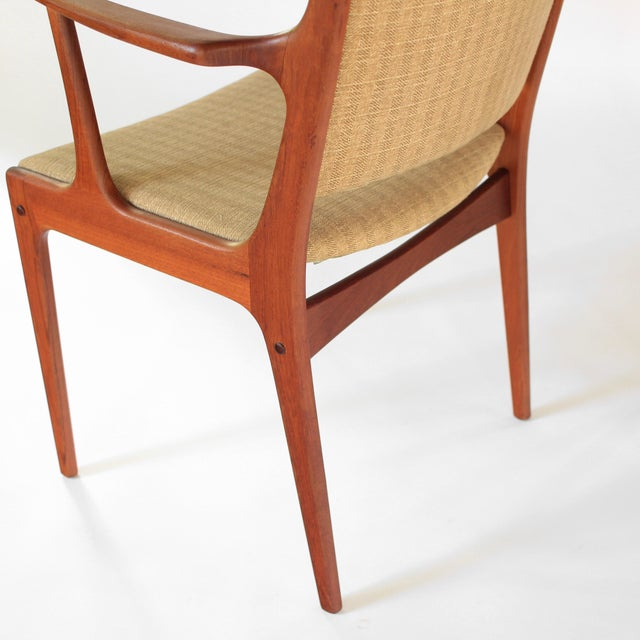 Mid Century Danish Modern Johannes Andersen for Uldum Møbelfabrik Dining Chairs- A Pair For Sale - Image 9 of 11