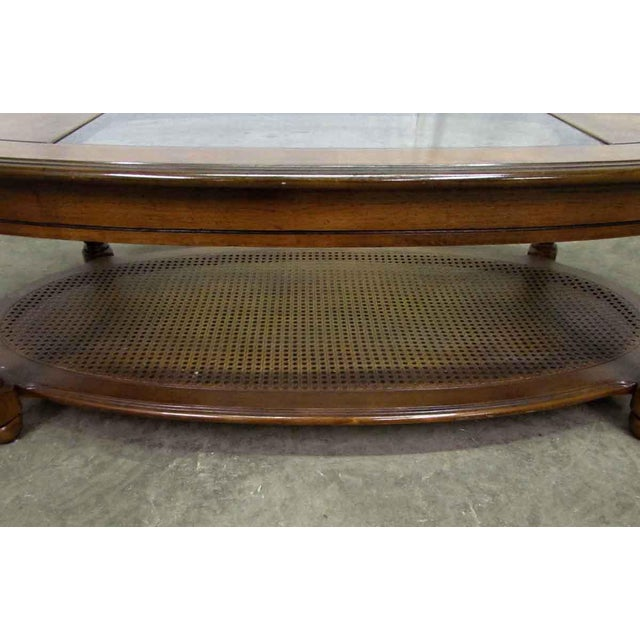 Glass Top Insert Coffee Table For Sale - Image 6 of 8