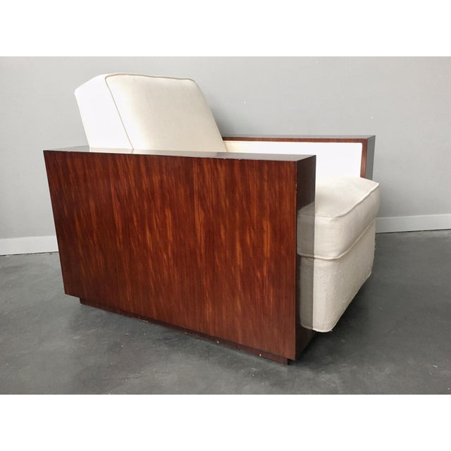 Contemporary Art Deco Ralph Lauren Metropolis Collection Rosewood Club Chair by Herendron For Sale - Image 13 of 13