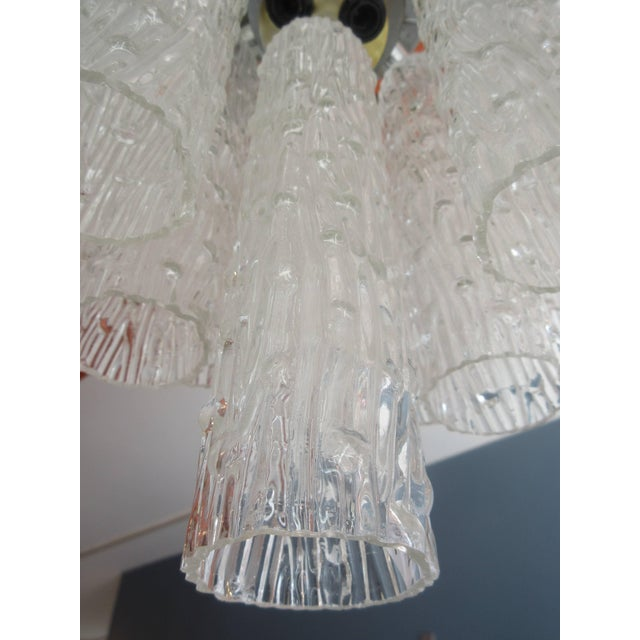 "1970s Venini ""Tronchi"" 40 Crystal Chandelier For Sale - Image 5 of 8"
