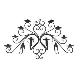 Custom Made Wrought Iron Wall Candelabra