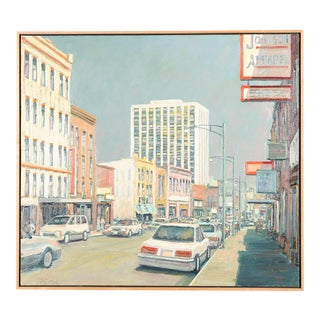 Mark Horton Los Angeles City Street Oil Painting For Sale