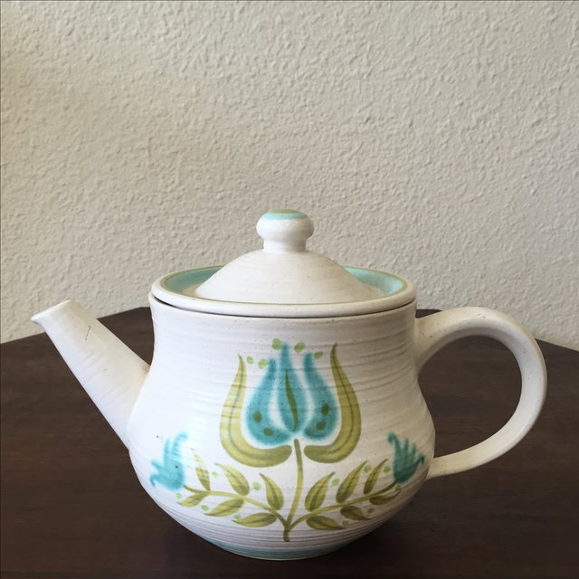 Franciscan Earthenware Mid-Century Floral Teapot - Image 6 of 8