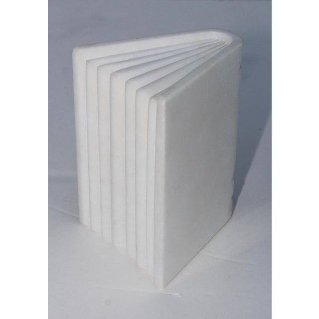 1950s Italian Carrara Marble Bookends For Sale In New York - Image 6 of 10