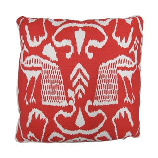 "Oomph Red ""Bali Ii"" Linen Pillow"