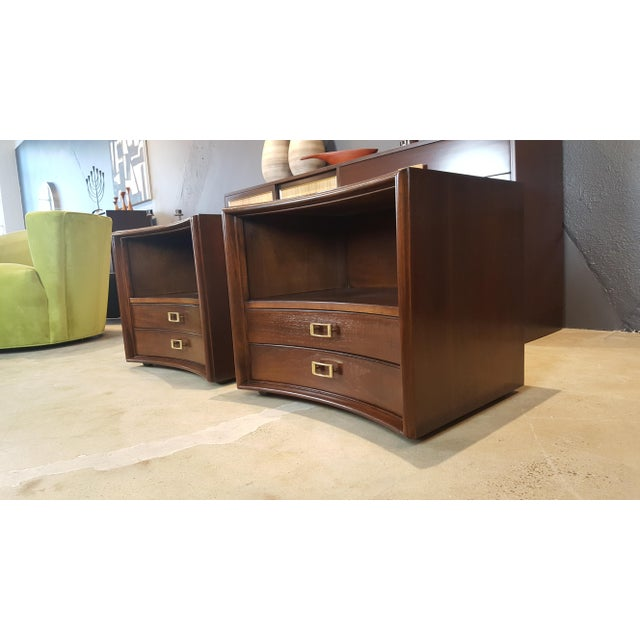 Paul Frankl for Johnson Furniture Walnut Nightstands - A Pair - Image 2 of 8