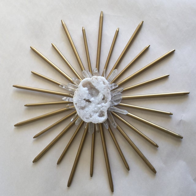 Mid-Century Natural Crystal Starburst Wall Decor - Image 5 of 9
