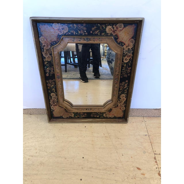 Venetian Hand Painted Rectangular Mirror For Sale - Image 10 of 10