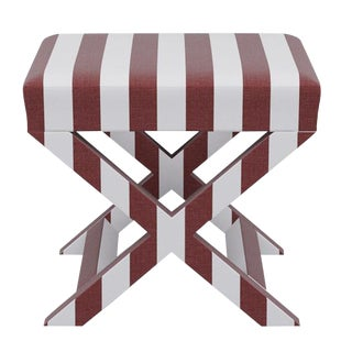 X Bench in Port Cabana Stripe For Sale