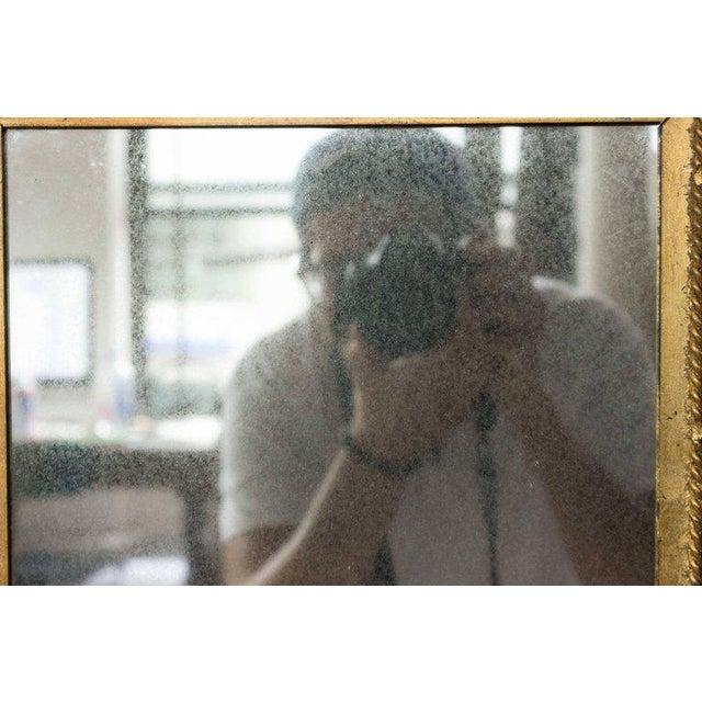 Rectangular Gilt Metal Sunburst Mirror For Sale - Image 4 of 9