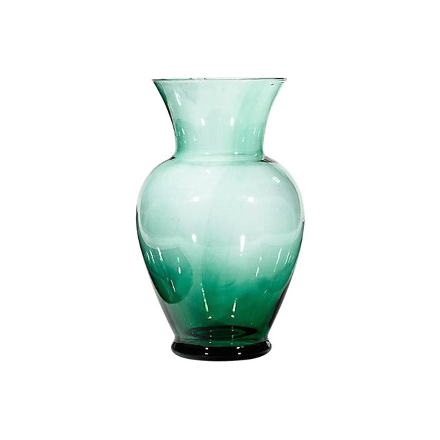 Tall Green Glass Vase Chairish