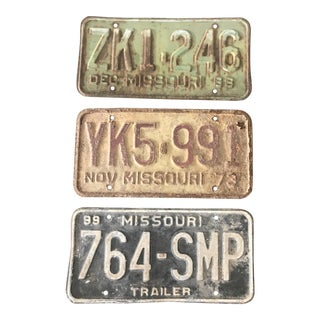 Vintage License Plates - Set of 3