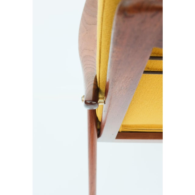 Brass 1950s Danish Modern Fredrik A. Keyser for Vantne Lenestolfabrikk Lounge Chair For Sale - Image 7 of 11
