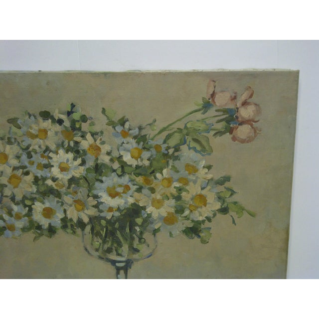 "Contemporary 20th Century Contemporary Original Framed Painting on Canvas, ""Bouquet of Flowers"" by Frederick McDuff For Sale - Image 3 of 8"