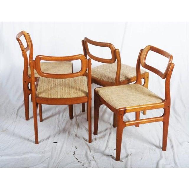Fabric Danish Teak Chairs by Uldum Møbelfabrik, 1960s - Set of 4 For Sale - Image 7 of 11