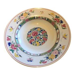 Puiforcat France Limoges Bowl Floral Design For Sale