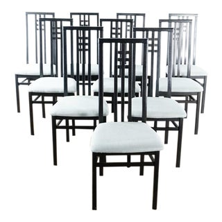 Modern Danish Modern Highback Chairs- Set of 10 For Sale