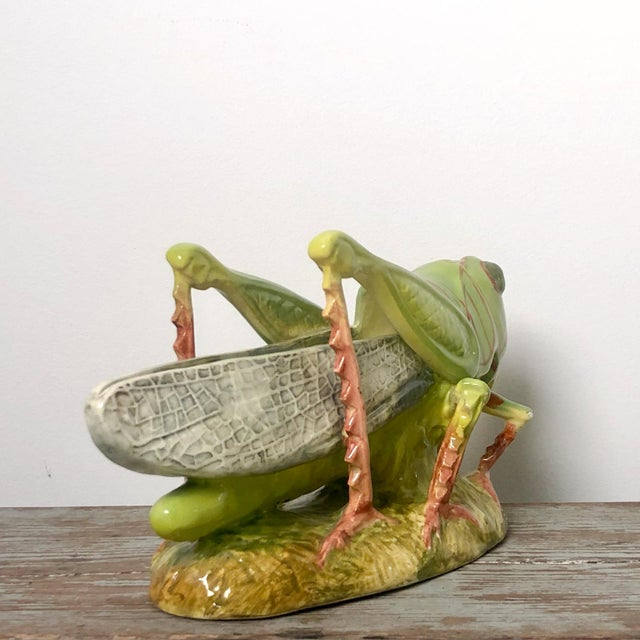 Majolica French Majolica Grasshopper For Sale - Image 4 of 7