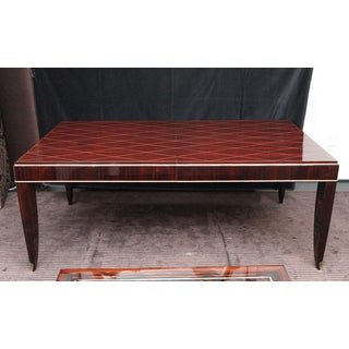 Art Deco Rosewood and Gilded Albert Fournier Dining Table With Brass Accents Preview