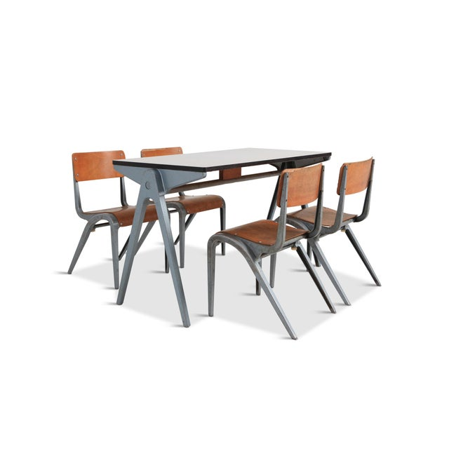 Industrial Writing Desk Table With Chairs for Kids by James Leonard for Esavian For Sale - Image 13 of 13