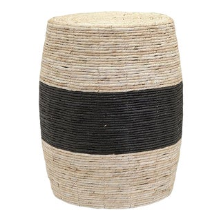 Modern Rope Drum Stool Ottoman For Sale
