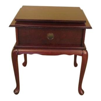 Terrific Bombay Company Queen Anne Cherry Tv Stand Chairish Lamtechconsult Wood Chair Design Ideas Lamtechconsultcom