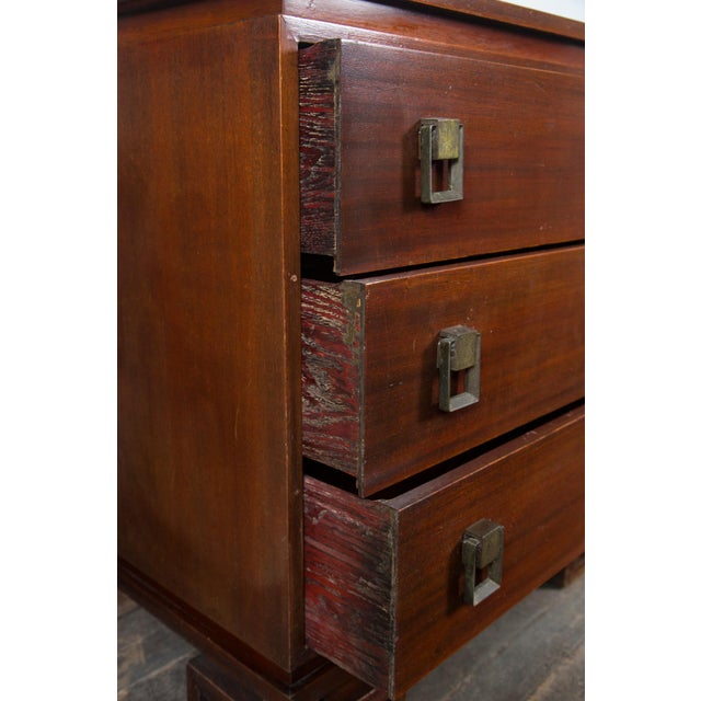 Brown James Mont Style Chinoiserie Wood Dresser For Sale - Image 8 of 11