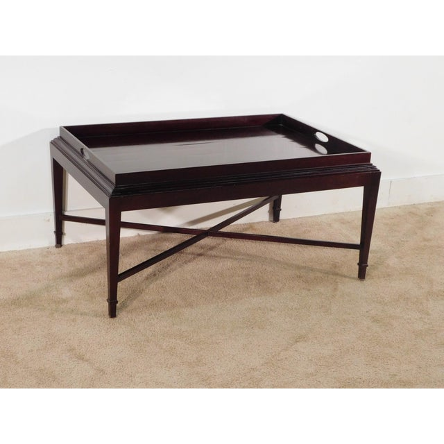 Barbara Barry for Baker Furniture Company Java Finish Coffee Table For Sale In South Bend - Image 6 of 10