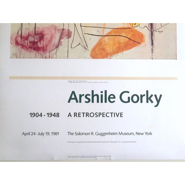 Vintage 1981 Arshile Gorky Original Abstract Lithograph Print Exhibition Poster - Image 8 of 9