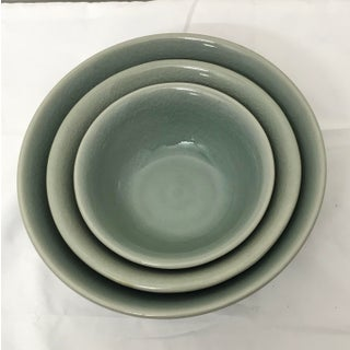 Mid 20th Century Celadon Nesting Bowls - Set of 3 Preview