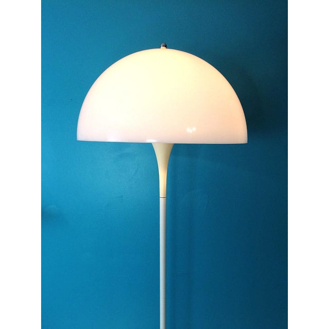 Louis Poulsen Verner Panton Dome Panthella Louis Poulsen Mid Century Modern Floor Lamp For Sale - Image 4 of 9
