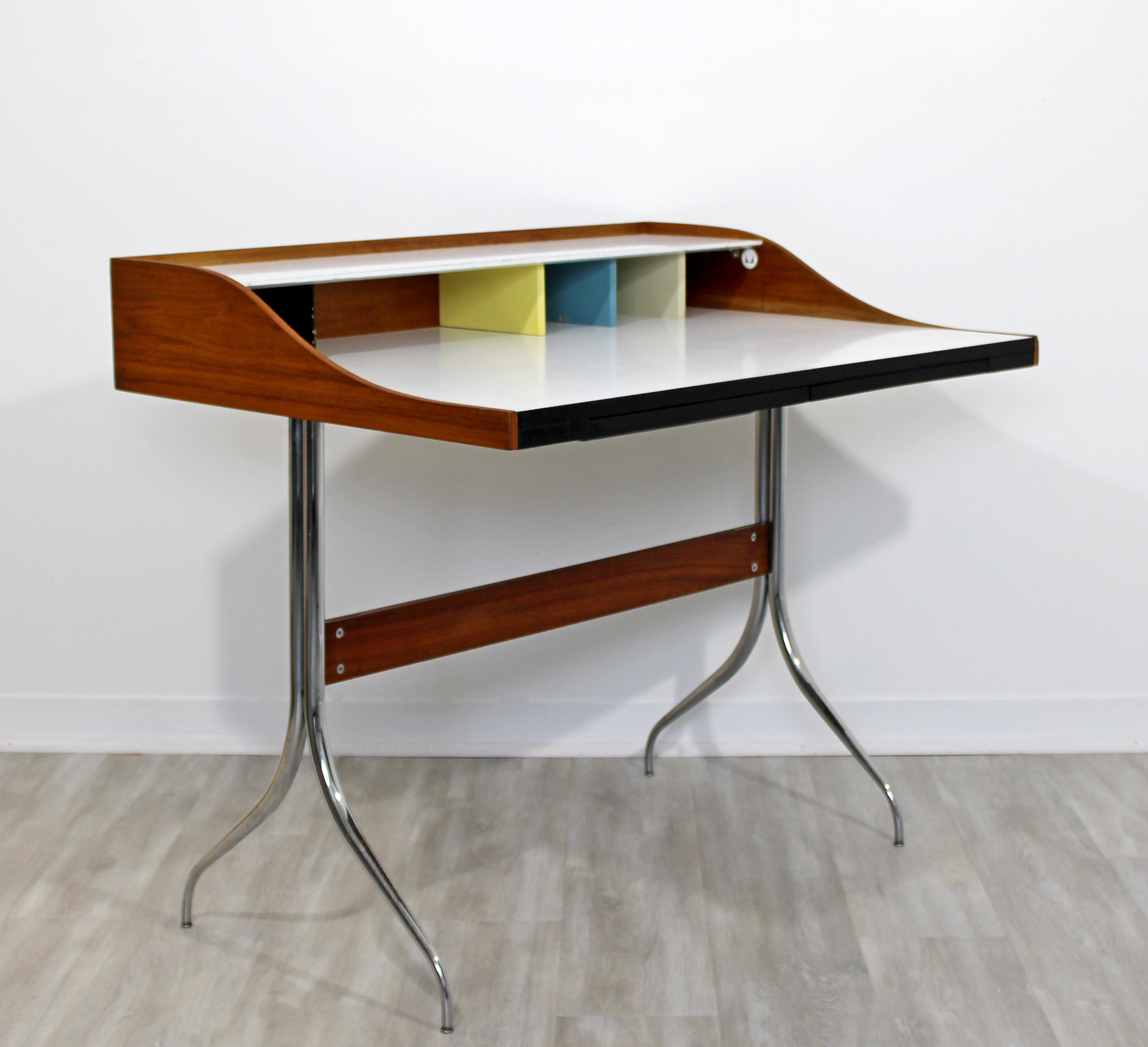 George Nelson Herman Miller Mid Century Modern Early Production Swag Leg  Desk For Sale   Image