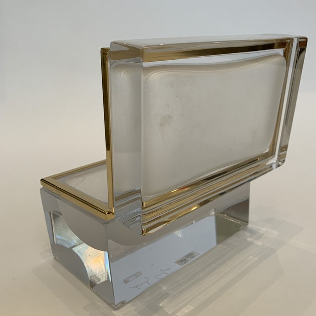 2010s 21st Century Murano White Crystal Jewel Box by Mandruzzato For Sale - Image 5 of 10