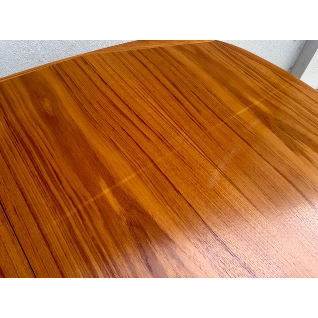 Mid-Century Expandable Teak Dining Table - Image 10 of 11