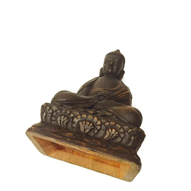 Vintage Carved Nepal Buddha Tall Temple Statue - Image 4 of 6
